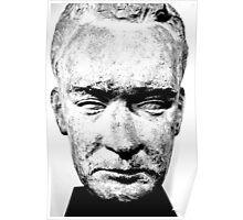 sculpture face stone stallin Poster