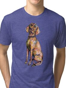 Hungarian Vizsla Dog Tri-blend T-Shirt