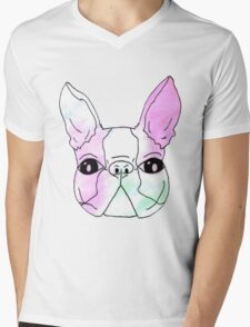 Pastel Boston Terrier Mens V-Neck T-Shirt