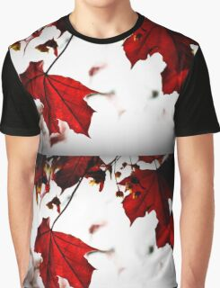 Red Maple Leaves, Autumn Graphic T-Shirt