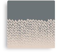 Half Knit Ombre Nat Canvas Print