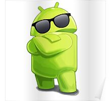 android sunglasses cool programming logo Poster