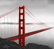 Golden Gate Bridge (Vectorillustration) by _ VectorInk