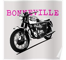 The Vintage Bonneville Motorcycle Poster