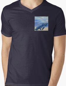 Manatee 5x5 Colored Pencil Drawing Mens V-Neck T-Shirt