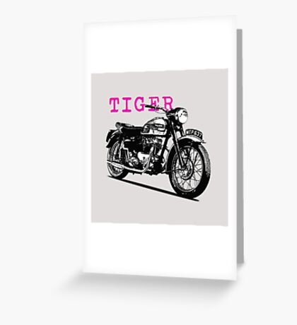 The Vintage Tiger Motorcycle Greeting Card