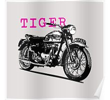The Vintage Tiger Motorcycle Poster