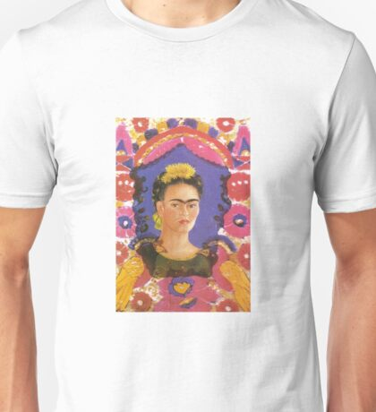 Self Portrait The Frame by Frida Kahlo Unisex T-Shirt