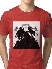 Donald Trump vs. Hillary Clinton editorial cartoon Tri-blend T-Shirt