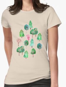 Little Trees Womens Fitted T-Shirt
