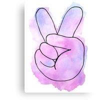Peace Sign Watercolor Canvas Print