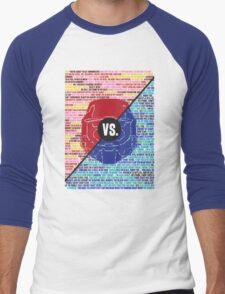 Red Vs. Blue Men's Baseball ¾ T-Shirt