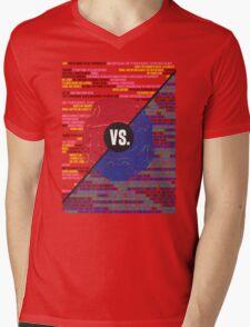 Red Vs. Blue Mens V-Neck T-Shirt