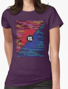 Red Vs. Blue Womens Fitted T-Shirt