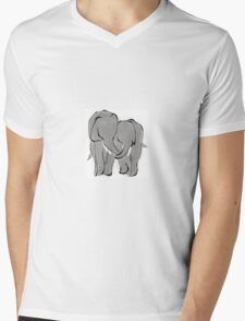 Elephant calves holding trunks Mens V-Neck T-Shirt