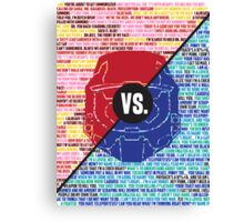 Red Vs. Blue Canvas Print