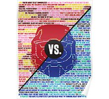 Red Vs. Blue Poster