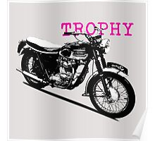 The Vintage Trophy Motorcycle Poster