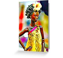 SALIHAH FAIZA:AFRICAN FASHION WEEK Greeting Card