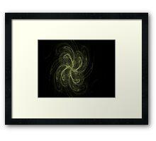 Pinwheel..CGI fractal flame Framed Print
