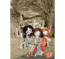 Girlfriends in Tuscany... Photographic Print