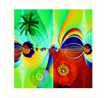 Tropical moods Art Print