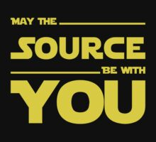 May The Source Be With You - Stars Wars Parody for Programmers Kids Tee