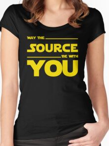 May The Source Be With You - Stars Wars Parody for Programmers Women's Fitted Scoop T-Shirt