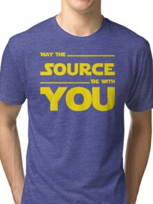 May The Source Be With You - Stars Wars Parody for Programmers Tri-blend T-Shirt