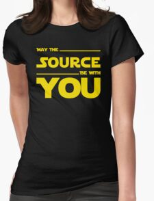 May The Source Be With You - Stars Wars Parody for Programmers Womens Fitted T-Shirt