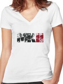 MKII Women's Fitted V-Neck T-Shirt