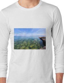 Serenity in Lake Superior Long Sleeve T-Shirt