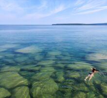Serenity in Lake Superior Sticker