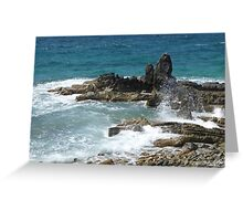 Caribbean coastal spray Greeting Card