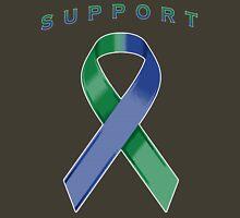 Green & Blue Awareness Ribbon of Support Unisex T-Shirt