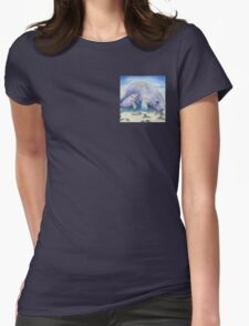Manatee Mom and Baby 5x5 Colored Pencil Womens Fitted T-Shirt