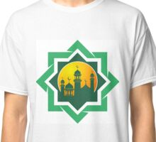 Silhouette of the mosque Classic T-Shirt