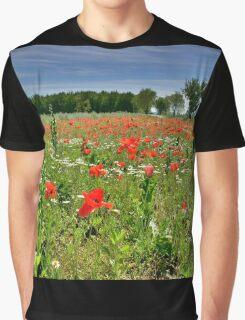 Poppy Field Near Cividale Graphic T-Shirt