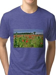 Poppy Field Near Cividale Tri-blend T-Shirt