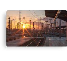 sunny railway Canvas Print