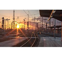 sunny railway Photographic Print