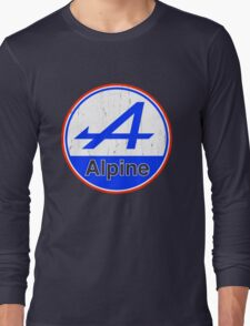 Alpine Cutout French Color Graphic Long Sleeve T-Shirt