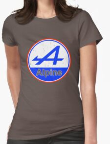 Alpine Cutout French Color Graphic Womens Fitted T-Shirt