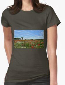 Poppy Field Near Cividale Womens Fitted T-Shirt