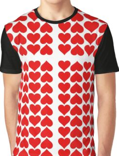 Hearts Love All Over Graphic T-Shirt