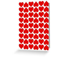 Hearts Love All Over Greeting Card