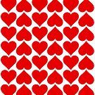 Hearts Love All Over by FamilyT-Shirts