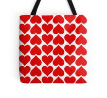 Hearts Love All Over Tote Bag