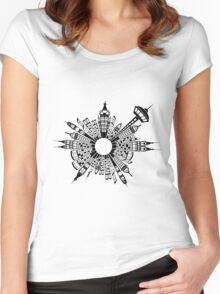 City Buildings Art Women's Fitted Scoop T-Shirt