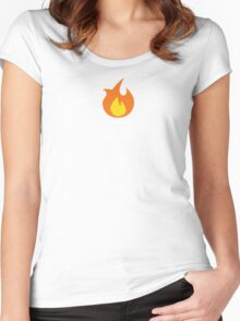 Flaming Piston (fire wht) Women's Fitted Scoop T-Shirt